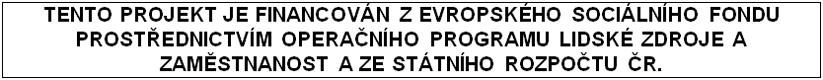 Povinný text o podpoře projektu