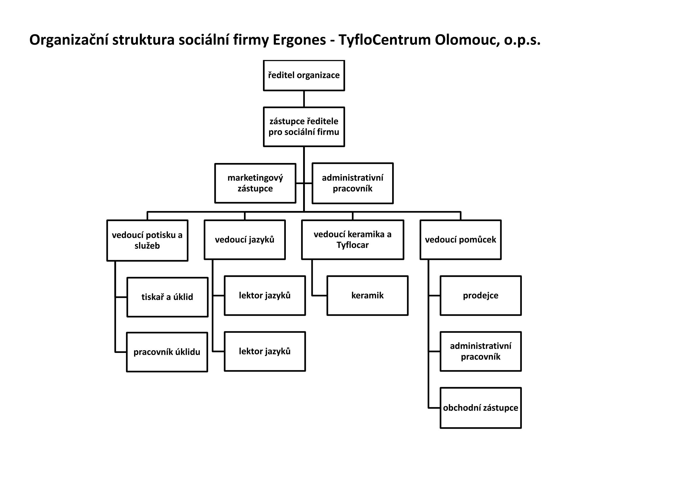 Organizační struktura Tyflocentrum Olomouc, o.p.s.